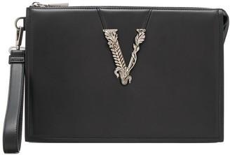 Versace Virtus zip-fastening clutch