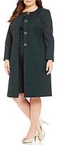John Meyer Plus Solid 2-Piece Jacket Dress