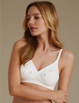 Marks and Spencer Floral Embroidered Crossover Non-Wired Full Cup Bra A-E