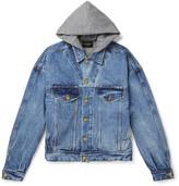 Fear Of God Jersey-Lined Selvedge Denim Hooded Jacket