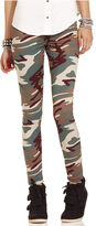 Planet Gold Juniors Pants, Camouflage-Print Leggings