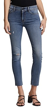 Hudson Nico Mid-Rise Ripped Skinny Jeans in Unregulated