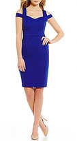 Adrianna Papell Sweetheart Neck Cut-out Cold Shoulder Fitted Sheath Dress