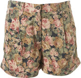 Floral Cord Shorts