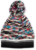 Missoni Space-Dye Knit Pompom Beanie Hat