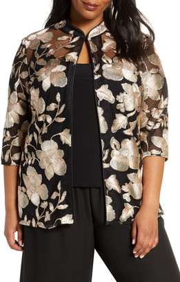 Alex Evenings Embroidered Jacket & Camisole Set