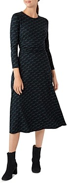 Hobbs London Bayview Horse Print Midi Dress
