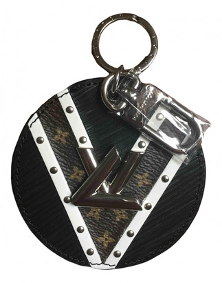 Louis Vuitton Black Leather Bag charms