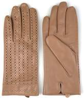 Journee Collection Women's Microfiber-Lined Perforated Leather Gloves