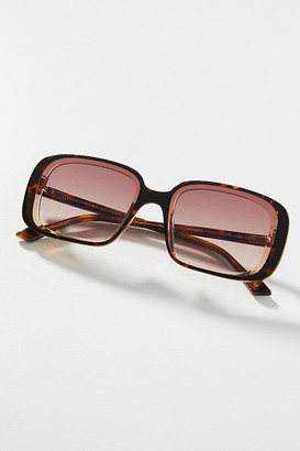 SUNDAY SOMEWHERE Luna Square Sunglasses By in Purple Size ALL