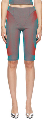 Paolina Russo SSENSE Exclusive Green and Red Illusion Knit Cycling Shorts