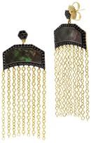 Freida Rothman Mother-of-Pearl Fringe Earrings