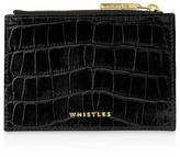 Whistles Shiny Croc-Embossed Coin Case
