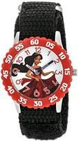 Disney Girl's 'Elena of Avalor' Quartz Stainless Steel and Nylon Watch, Color:Black (Model: W003034)