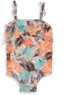 Jessica Simpson Little Girl's Tropical Print Swimsuit