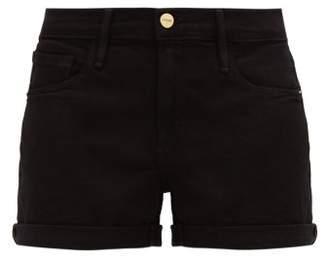 Frame Le Cutoff Denim Shorts - Womens - Black