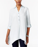 Style&Co. Style & Co Denim High-Low Tunic Shirt, Only at Macy's