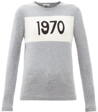 Bella Freud 1970-intarsia Cashmere Sweater - Womens - Grey