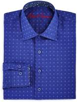 Robert Graham Boys' Diamond Print Dress Shirt