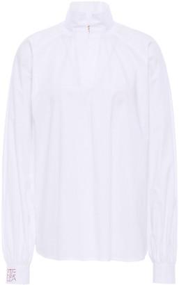 Stella Jean Stretch-cotton Poplin Blouse
