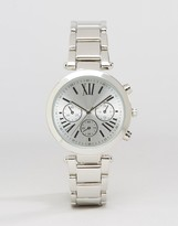 Asos Sleek Silver Dial Watch