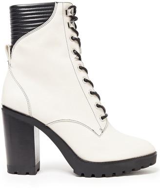 MICHAEL Michael Kors Lace-up Leather Platform Ankle Boots