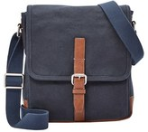 Fossil Men's 'Davis' Canvas Messenger Bag - Blue