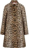 Sara Battaglia Leopard-jacquard Coat - Leopard print