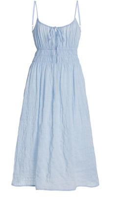Ciao Lucia Gabriela Smocked Cotton-Blend Dress