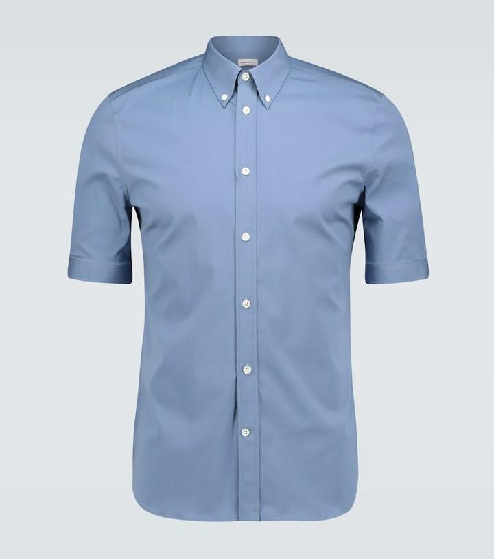 Alexander McQueen American collar short-sleeved shirt
