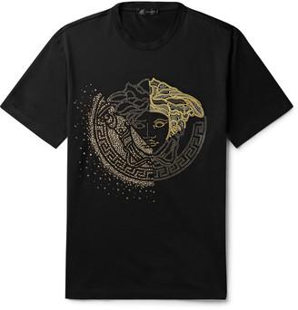 Versace Logo-Embellished Cotton-Jersey T-Shirt