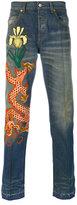 Gucci stonewashed denim jeans - men - Cotton/Polyamide/Polyester/Metallic Fibre - 30