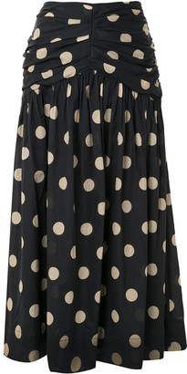 Bec & Bridge Josephine polka-dot flared skirt