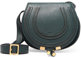 Chloé Marcie Mini Textured-leather Shoulder Bag - Forest green