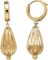 FINE JEWELRY LIMITED QUANTITIES! 14K Yellow Gold Polished Corrugated Teardrop Earrings