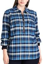 Chaps Plus Size Buffalo Plaid Long Sleeve Pullover Top