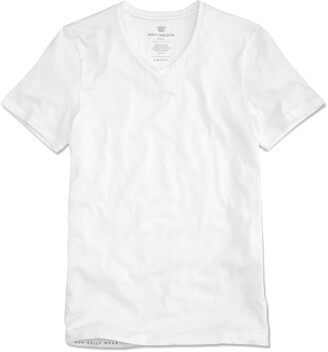 Mack Weldon Silver Vneck Undershirt in Bright White
