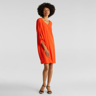 Esprit Straight Cut Dress with V-Neck and 3/4 Sleeves