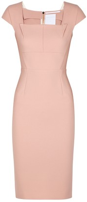 Roland Mouret Jeddler Pink Midi Dress
