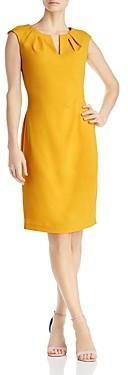 Adrianna Papell Pleat Detail Sheath Dress