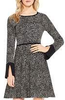 Vince Camuto Cheetah Print Jacquard Sweater Dress