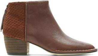 Clarks Spiced Ruby Leather Booties