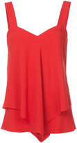Derek Lam 10 Crosby flared shift tank top - women - Silk/Acetate - 0