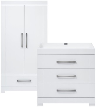 Silver Cross Notting Hill Wardrobe & Dresser, Gloss White