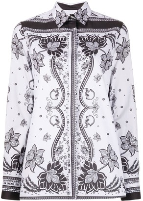Golden Goose Foulard-Print Long-Sleeved Shirt