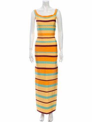 Herve Leger Vintage Long Dress Yellow