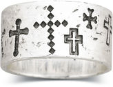 Silver Cross FINE JEWELRY Sterling Silver Walk Beside Me Cross Ring