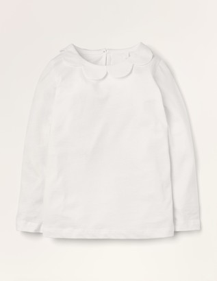 Woven Collar Jersey Top