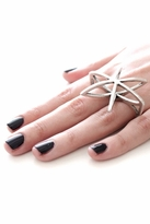 Low Luv x Erin Wasson Cosmos Double Finger Ring in Silver