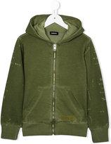 Diesel distressed military hoodie - kids - Cotton - 6 yrs